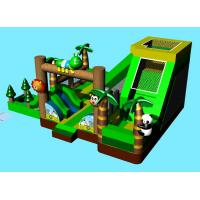 Green Animal Theme Panda Inflatable Amusement Park Toddler Playground Bouncer Castle Manufactures