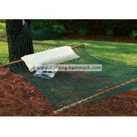 Patio Durable Polyester Rope Hammock , Hanging Camping Double Mesh Hammock Bed Manufactures