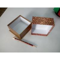 Luxurious golden colored shiny mosaic paper gift box -Factory direct bottom price
