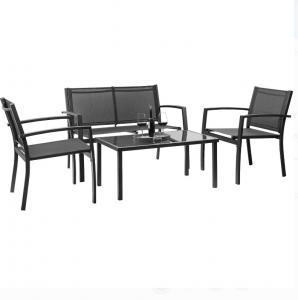 EN581 Textilene Bistro 4 Pieces Patio Furniture Set Manufactures