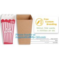 Quality-assured Professional Made Striped Popcorn Boxes,offset printing or flexo