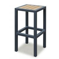 Breakfast Metal Kitchen Bar Stools  , Metal Counter Stool With Wood Seat Without Backrest