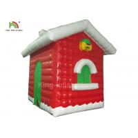 Red Inflatable Christmas House For Festival Decoration One Year Warranty Manufactures