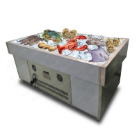 Commercial Stainless Steel R404a Supermarket Island Freezer Manufactures