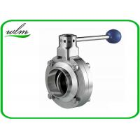 Butt Welded Sanitary Butterfly Valve For High Temperature Pipe System