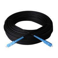 Outdoor Single Mode Fiber Optic Patch Cord Black G657A1 Ftth Drop Cable Manufactures