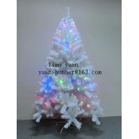 WHITE LEAF XMAS TREE COLORFUL LAMP DECORATION THICKNESS:0.07+0.1mm  LEAF WIDTH:6CM HINGED TREE