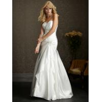 China Simple Elegant Mermaid Sweetheart Custom Taffeta Wedding Dress Gown on sale
