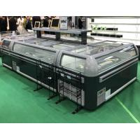 Full Side Temper Glass Door Chest Island Freezer  With R404 Gas Manufactures