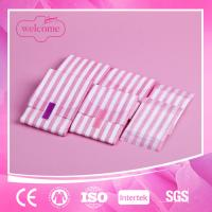 China Lady women cotton anion negative ion herbal sanitary napkin pad on sale
