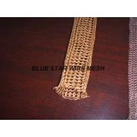 """2 """" Width Knitted Copper Wire Mesh Double / Multi - Filament Durable And Long Service Life Manufactures"""