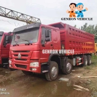 China CCC HOWO 12 Wheels Side Tipper Trucks With Air Condition on sale