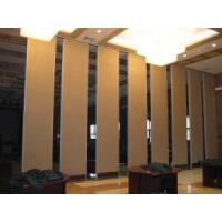 Floor to Ceiling Wooden Room Divider Wall / Sound Proofing Movable Sliding Doors Manufactures