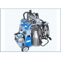 Automatic Trolley Type Piston Pump Mobile Milking Machine For Dairy Cows , 25L