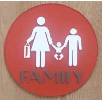 """UV Printed Text Braille Toilet Signs 1/4"""" Clear Acrylic Back Panel With CA 24 Title Manufactures"""