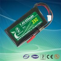 China 7.4V 2S 450mAh 25C high discharge lipo battery on sale