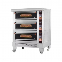 Commercial Used Single Bakery 1 Decks 2 Tray Gas Oven Equipments Manufactures