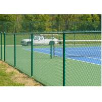 Outdoor Black Brown Green Chain Link Fence 6ft For Garden / Courtyard / Villa Manufactures