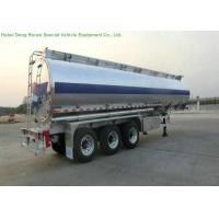 China 3 Axle Stainless Steel Tanker Semi Trailer For Drink Water , Beer, Milk , Food Transport on sale