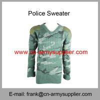 Wholesale Cheap China Military Camouflage Wool Army Police Pullover