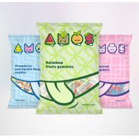 Quality Snack Food Plastic 3 Side Seal Bag With Tear Notch Full Color Printing OEM for sale