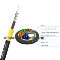 Armored Outdoor Fiber Optic Cable , ADSS Long Aerial Cable Above 10 Conductors Manufactures