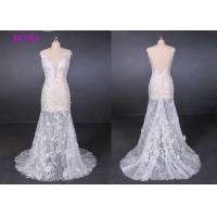 Transparent Tulle Lace Application Wedding Dresses Customized Factory Made Manufactures