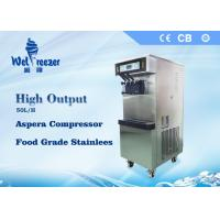 Cheap High Output Commercial Soft Ice Cream Machine with Food Grade Stainless Steel Materials for sale