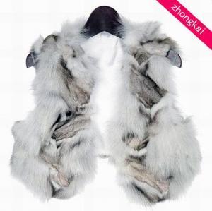 Blue Fox Leg Fur Vests Manufactures