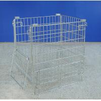 Lightweight Collapsible Metal Mesh Containers For Warehouse Storage Manufactures