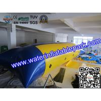 Blue And Yellow  Inflatable Water Blob , Inflatable Water Jumping Pillow Manufactures