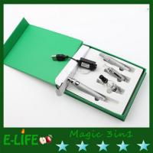 black electronic cigarette magic 3 in 1 6 colors option dry herb vaporizer pen Manufactures