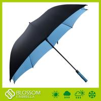 Cheap High Quality Double Layer Windproof Fiberglass Automatic Golf Umbrella for sale