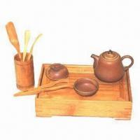 Ceramic Tea Set with Bamboo Tea Tray, Classical and Fashionable Style Manufactures