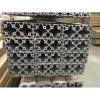 Silver And Black Anodized 6063 T5 Aluminum T Slot Profile / Aluminum Frame Extrusions Manufactures