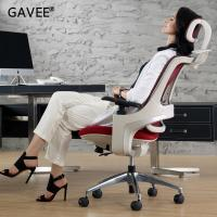 Luxury High Back Ergonomic Leather Chair With Angle Adjustment Handrails Manufactures