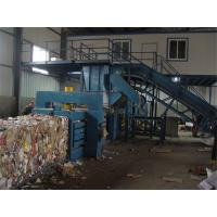 Cheap 15KW - 37kW Turnover Box And Plastic Baling Machine , Waste Paper Baling Machine for sale