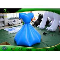 Inflatable Shapes , Blue Graceful Inflatable Dress Custom Shape / Inflatable Skirt For Party Activity Manufactures