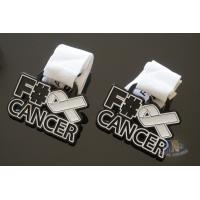 Cancer Aids Logo Custom Metal Enamel Soft Enamel Medals, Spray Black Plating And With Printing Ribbon Manufactures