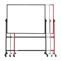 Unique Double Sided Whiteboard , Double Sided Magnetic Whiteboard On Wheels Manufactures