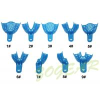 Cheap Autoclave Dental Impression Trays PP Material Blue Stock Impression Trays for sale