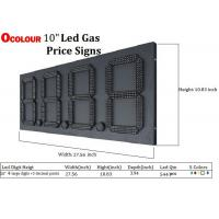 China Multi color gas station LED price sign on sale