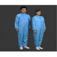Safety Clean Room Garments Stand Collar ESD Coverall For Printing Industry Manufactures