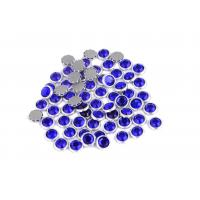 12 / 14 Facets Rimmed Rhinestones Lead Free Round Shape For Nail Art / Shoes
