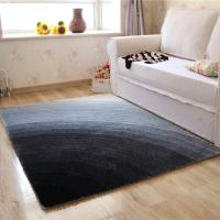 4D Polyester Shaggy Carpet in Gradient Color Best for Living Room