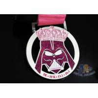 Unique Decoration Enamel Medals For Sports Events Gliter Color Anti Corrosion Manufactures