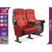 Molded PU Foam Flame Retardant Theatre Seating Chairs Center Distance 580mm Rocker Manufactures