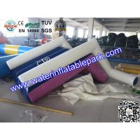 Water Park Pool Floating Inflatable Water Slide / Airtight Floating Slide Manufactures