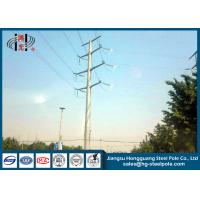 Cheap 50FT 2 Sections 69KV Electrical Power Transmission Pole With Galvanization / Bitumen for sale