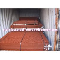 Quality Red Spray Paint Heavy Gauge Screen Mesh , Square Heavy Duty Metal Mesh Screen for sale